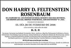 Harry D. Feltenstein Rosenbaum
